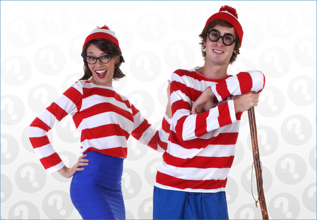 Together at Last Waldo and Wenda Costumes  sc 1 st  Halloween Costumes & Wheres Waldo Costumes - Adult Kids Wheres Waldo Halloween Costumes