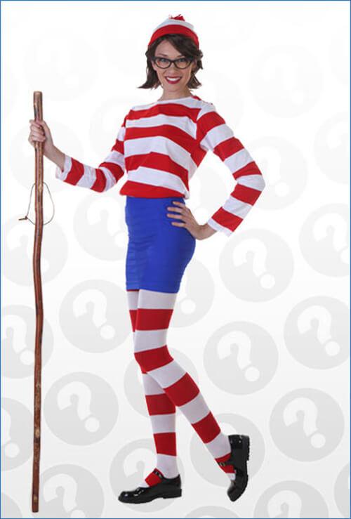 Whereu0027s Wenda Costume  sc 1 st  Halloween Costumes & Wheres Waldo Costumes - Adult Kids Wheres Waldo Halloween Costumes