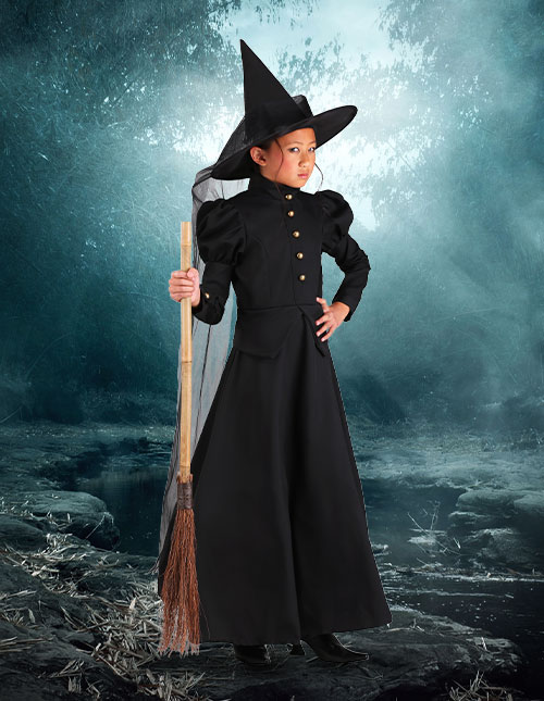 Girls' Witch Halloween Costume
