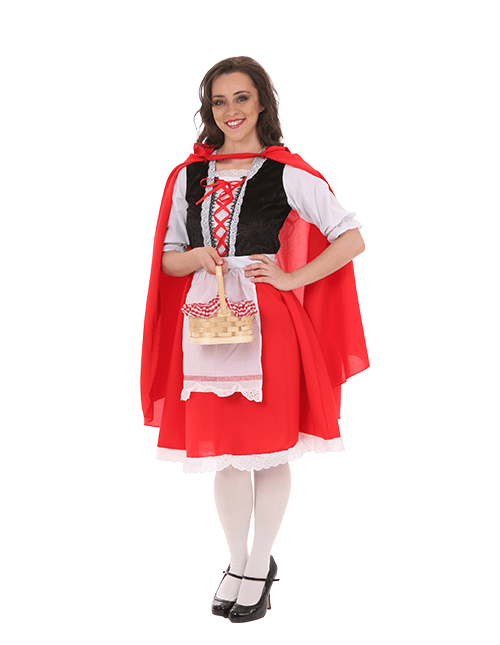 Full Coverage Red Riding Hood Costume