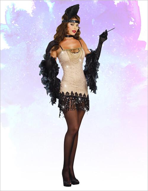 Women's Jazzy Jezebel Flapper Costume