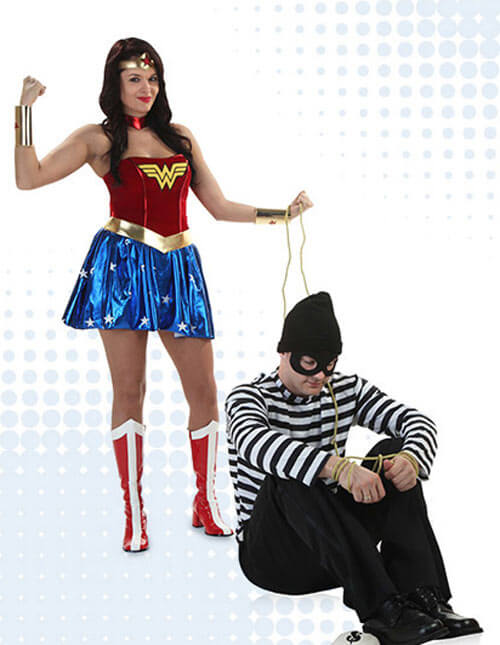 Bank Robber and Wonder Woman Costumes