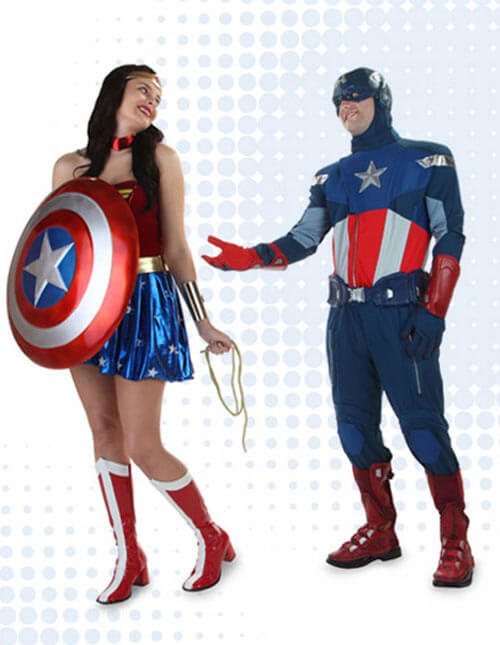 Captain America and Wonder Woman Costumes