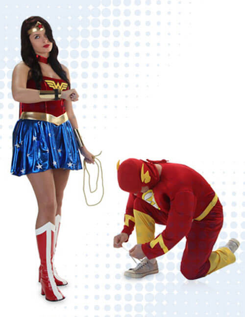 The Flash and Wonder Woman Costumes