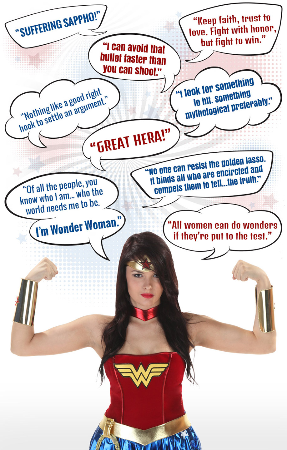 wonder woman pick up lines