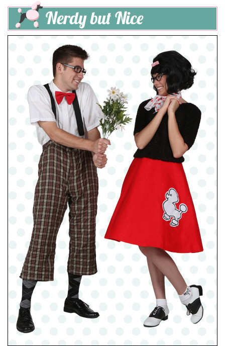 Nerdy Poodle Skirt Couples Costume