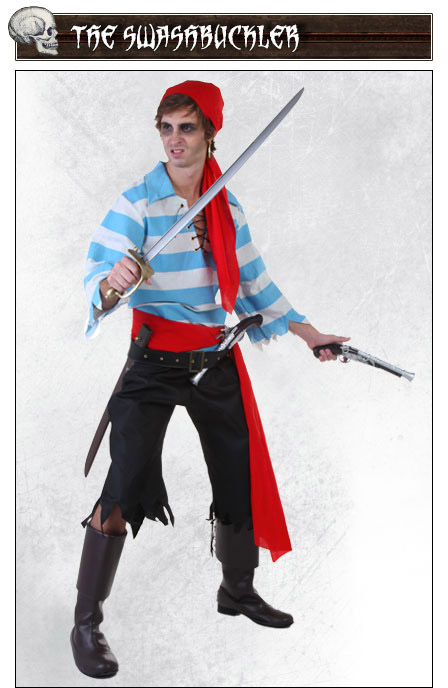 Swashbuckler Pirate Costume Pose