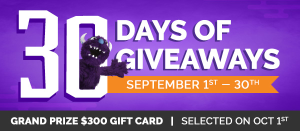 30 Days of Giveaways!