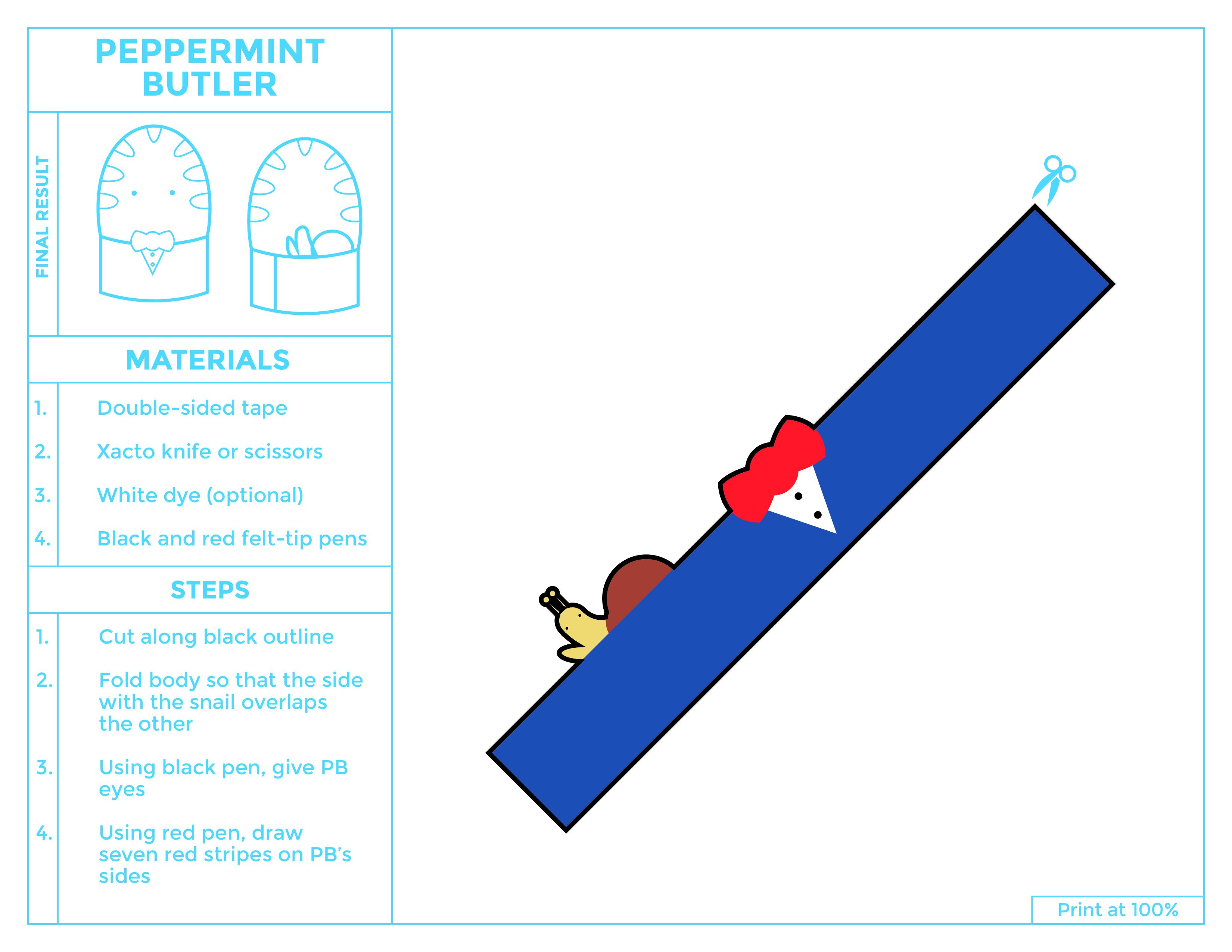 Peppermint Butler Egg Printable