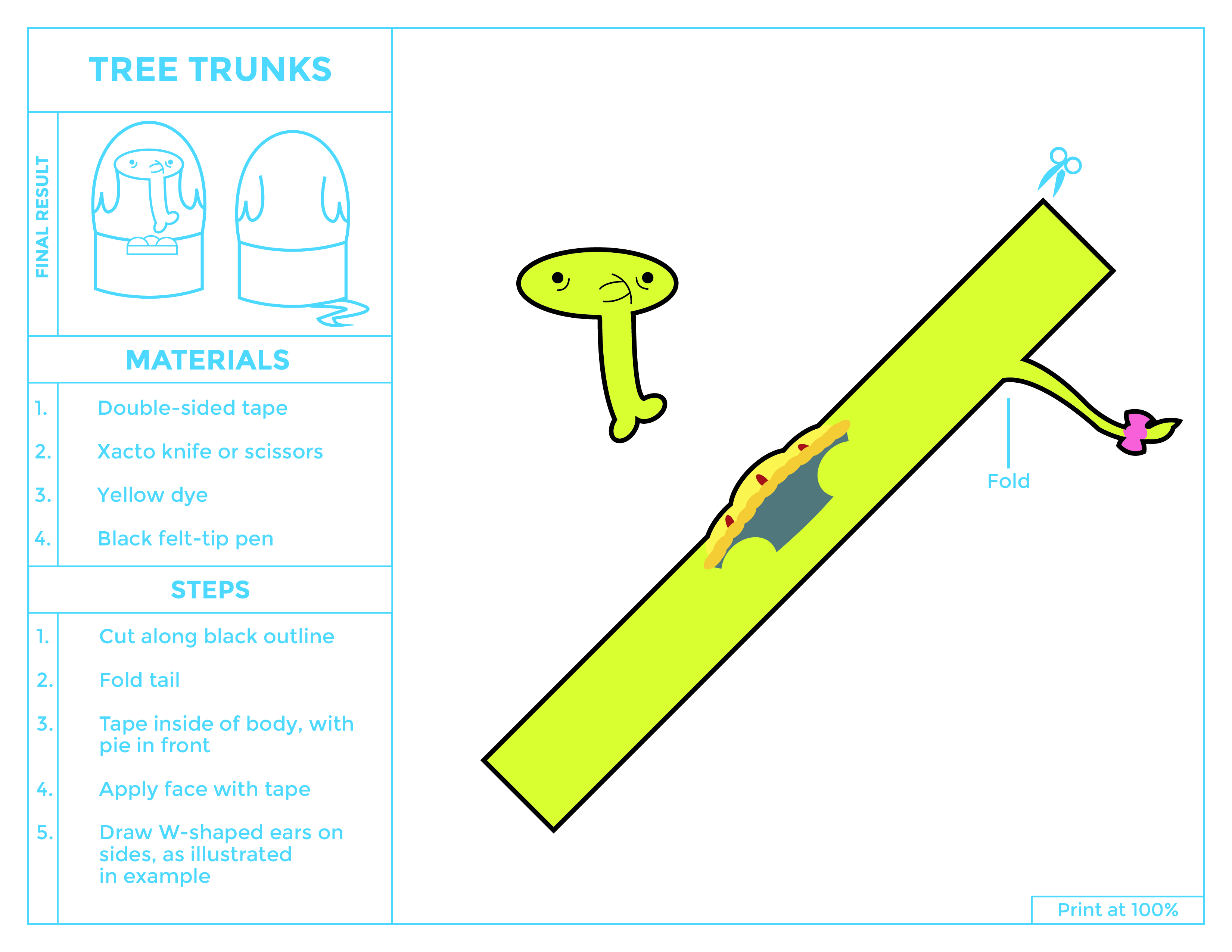 Tree Trunks Egg Printable