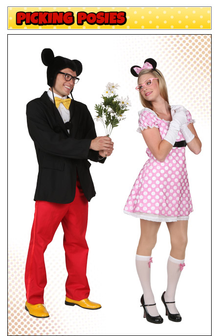 Romantic Mickey and Minnie Couples Costume