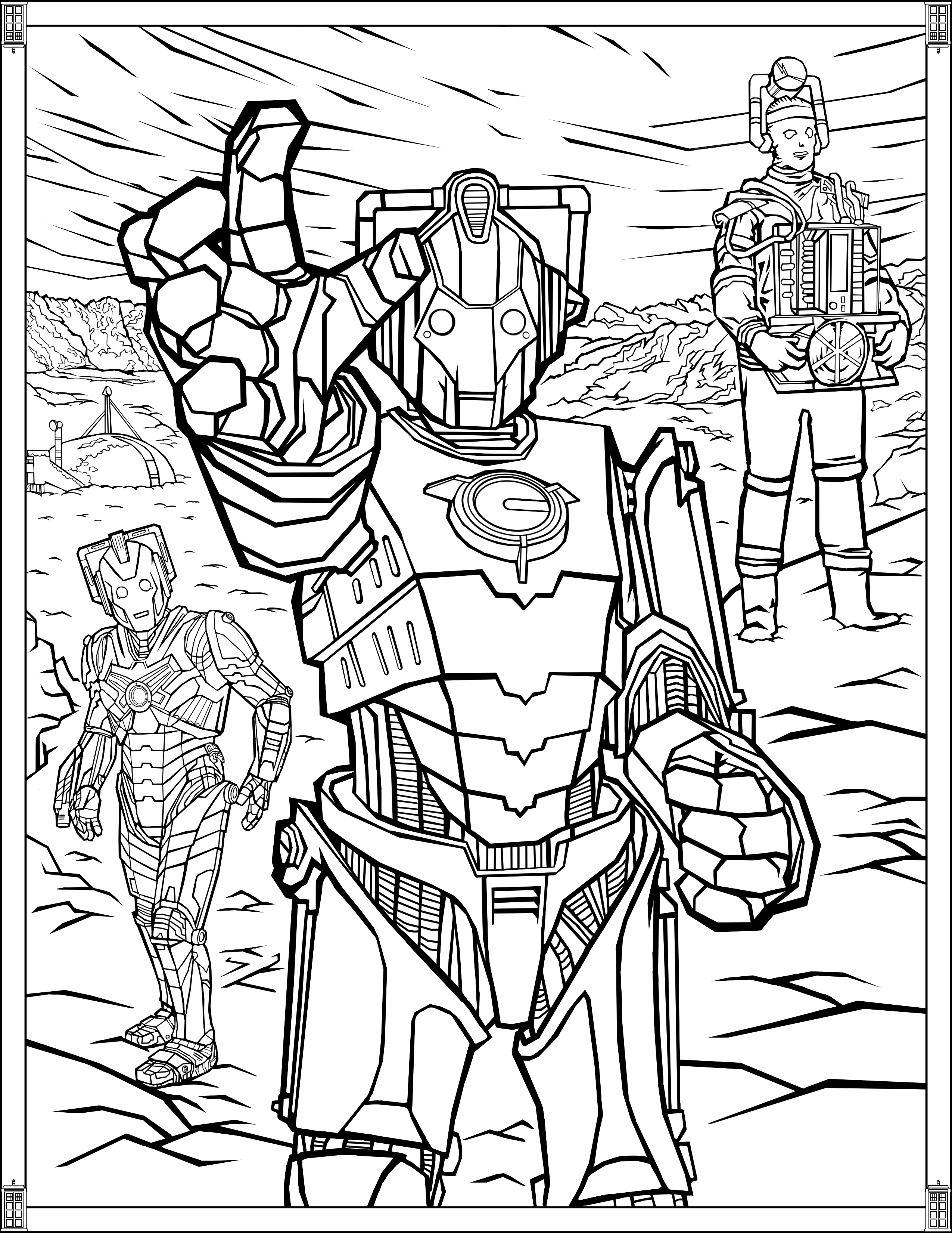 Doctor Who: Wibbly Wobbly Timey Wimey Coloring Pages [Printables ...