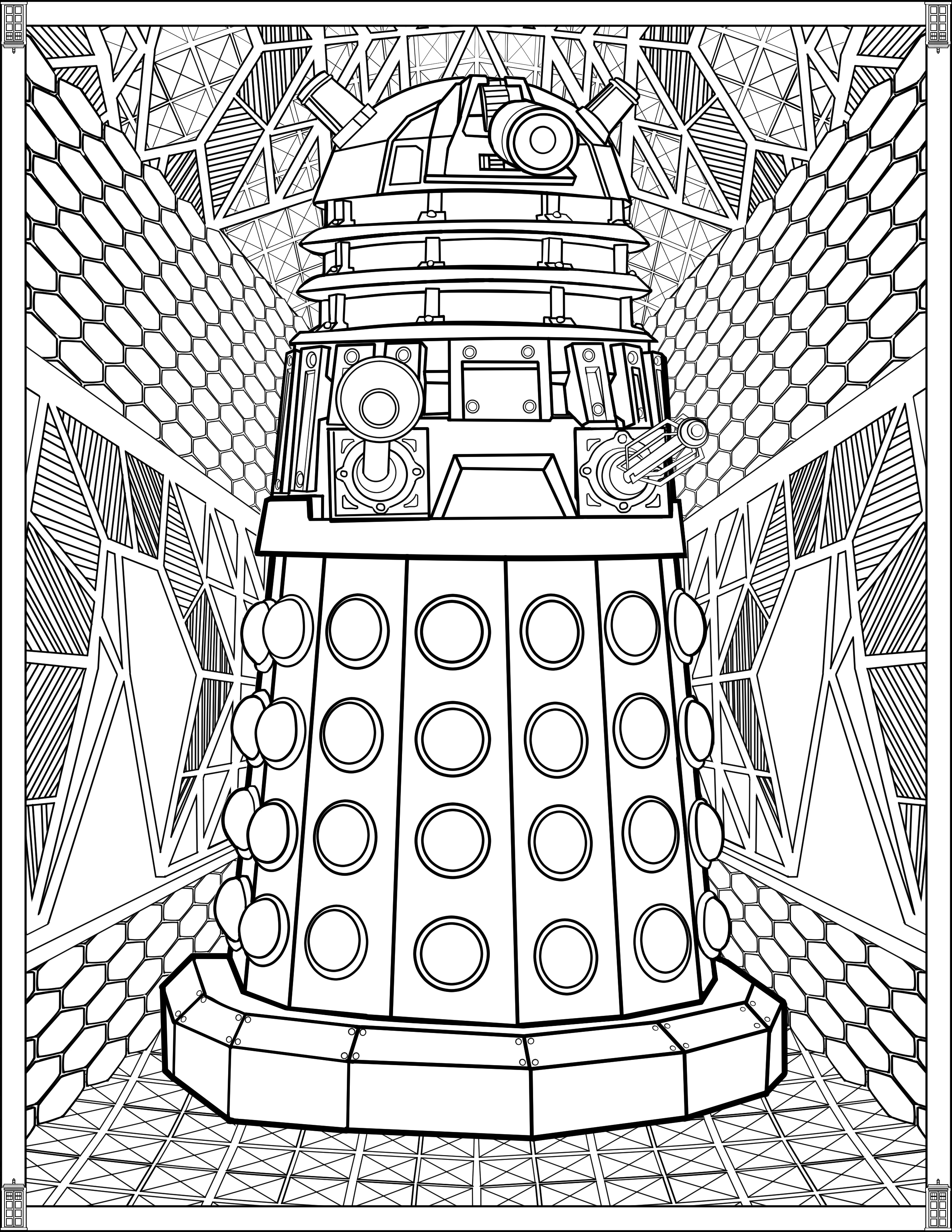 Tardis Coloring Page Doctor Who Coloring Pages Dream ...
