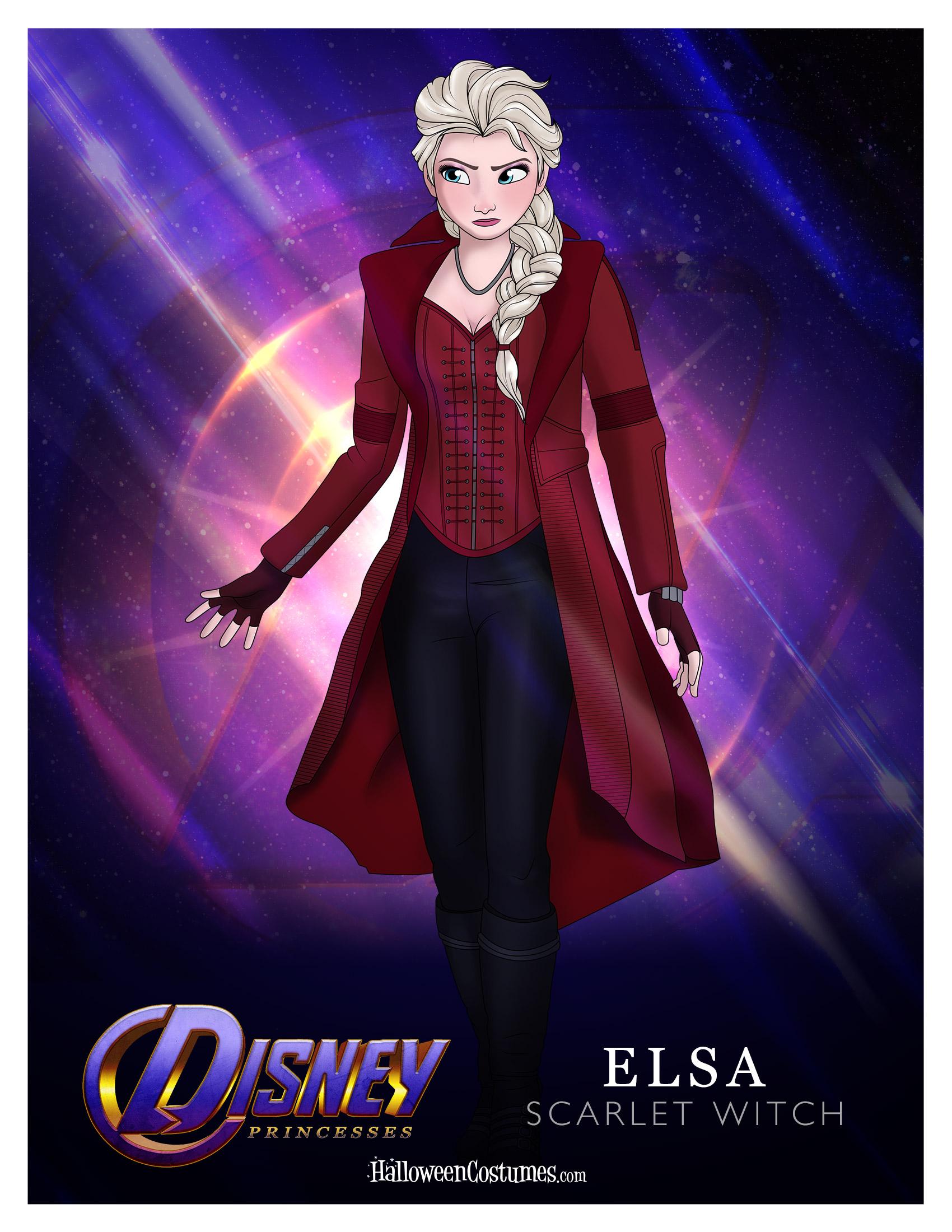 Princess Elsa as Scarlet Witch