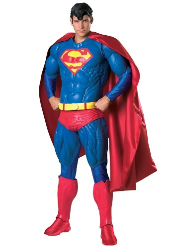 Click Here to buy Adult Collectors Superman Costume from HalloweenCostumes, CDN Funds