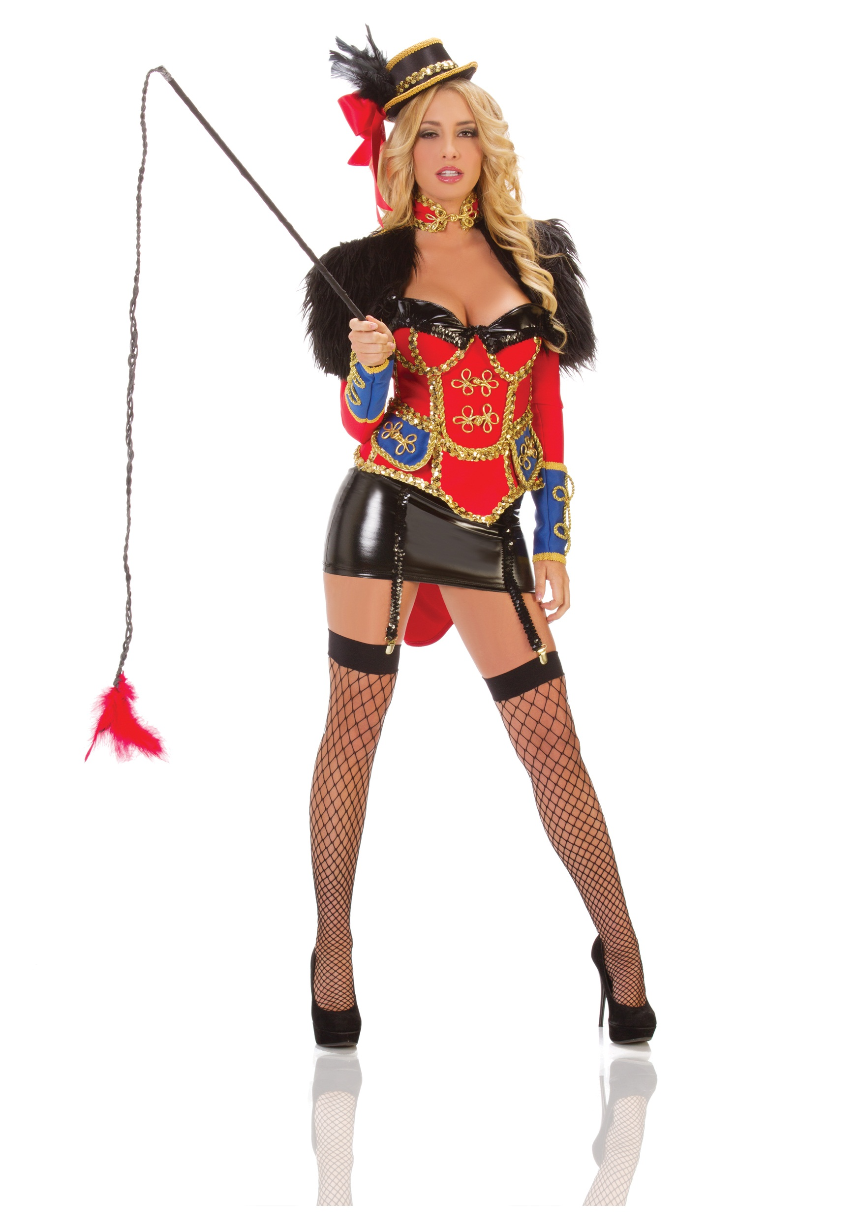 sexy circus ring leader costume - Britney Spears Red Jumpsuit Halloween Costume