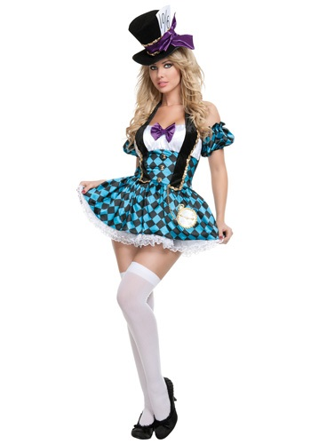 Click Here to buy Sexy Checkered Mad Hatter Costume from HalloweenCostumes, USA Funds & Shipping