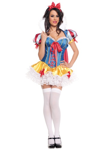 Click Here to buy Lacy Sassy Snow White Costume from HalloweenCostumes, USA Funds & Shipping