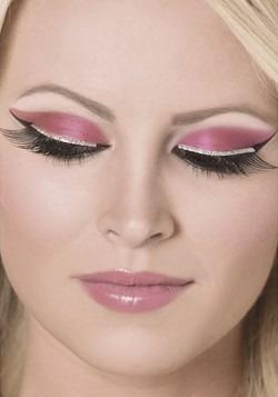 Black and Silver Glitter Eyelashes
