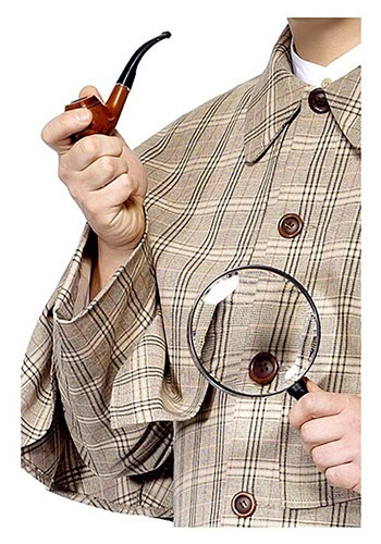 Sherlock Holmes Accessory Kit By: Smiffys for the 2015 Costume season.
