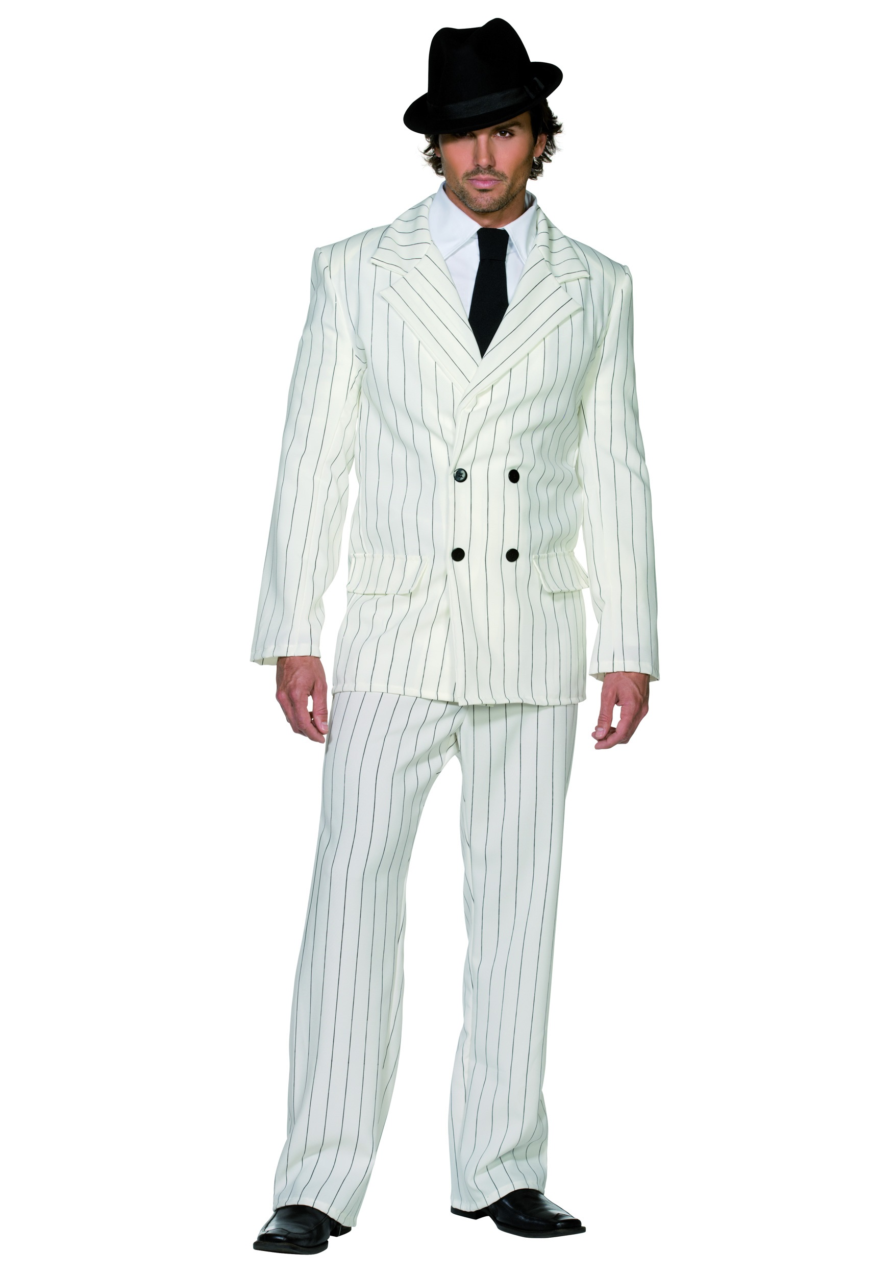 Mens White Gangster Costume