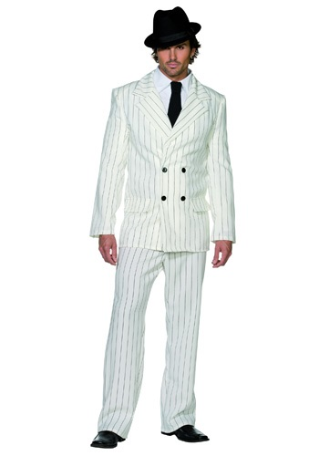 Click Here to buy Mens White Gangster Costume from HalloweenCostumes, USA Funds & Shipping