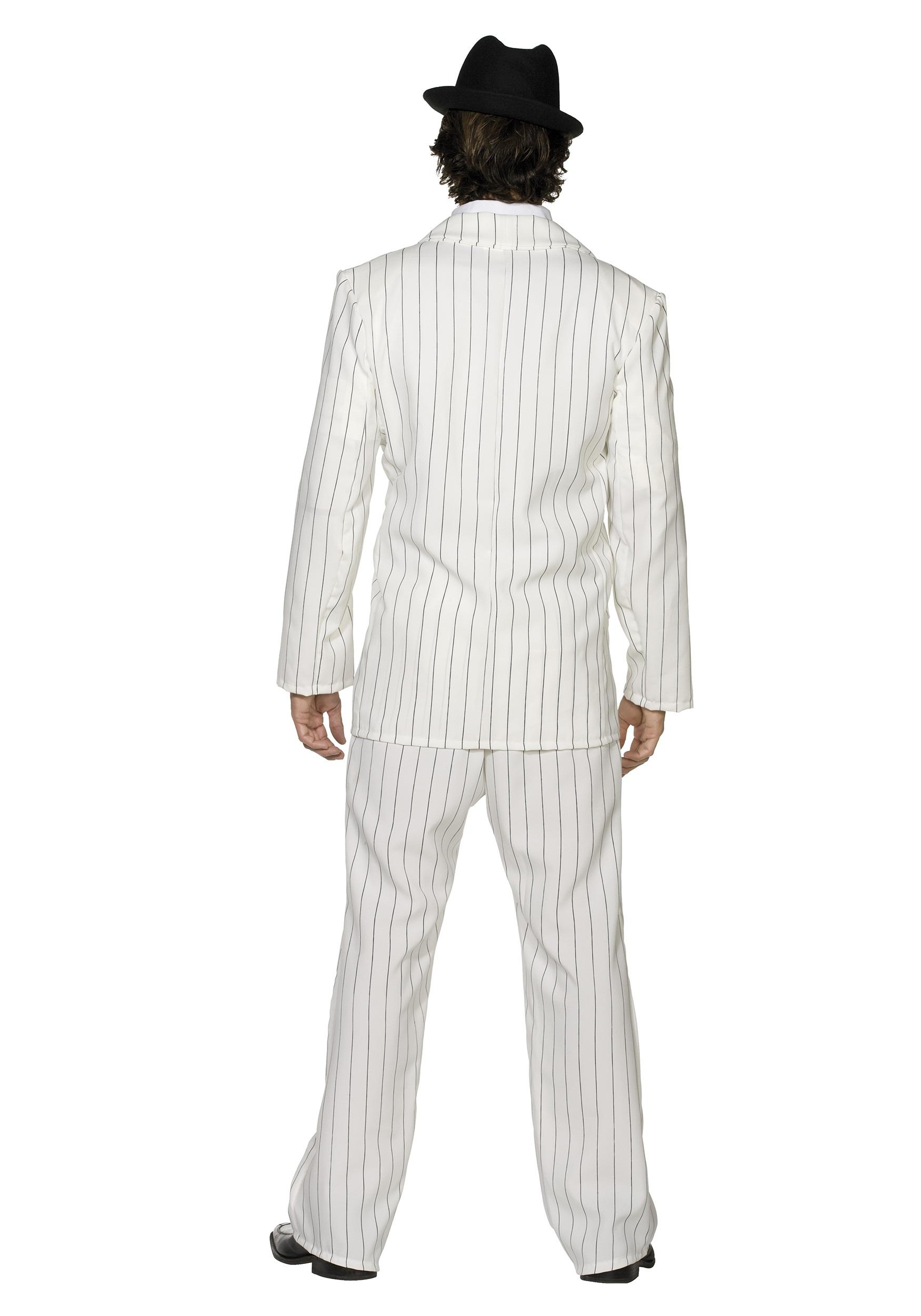 Mens White Gangster Costume