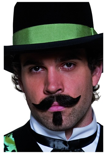 Western Gambler Moustache and Beard for Men