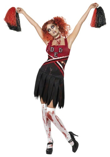 Click Here to buy Zombie Cheerleader Costume from HalloweenCostumes, USA Funds & Shipping