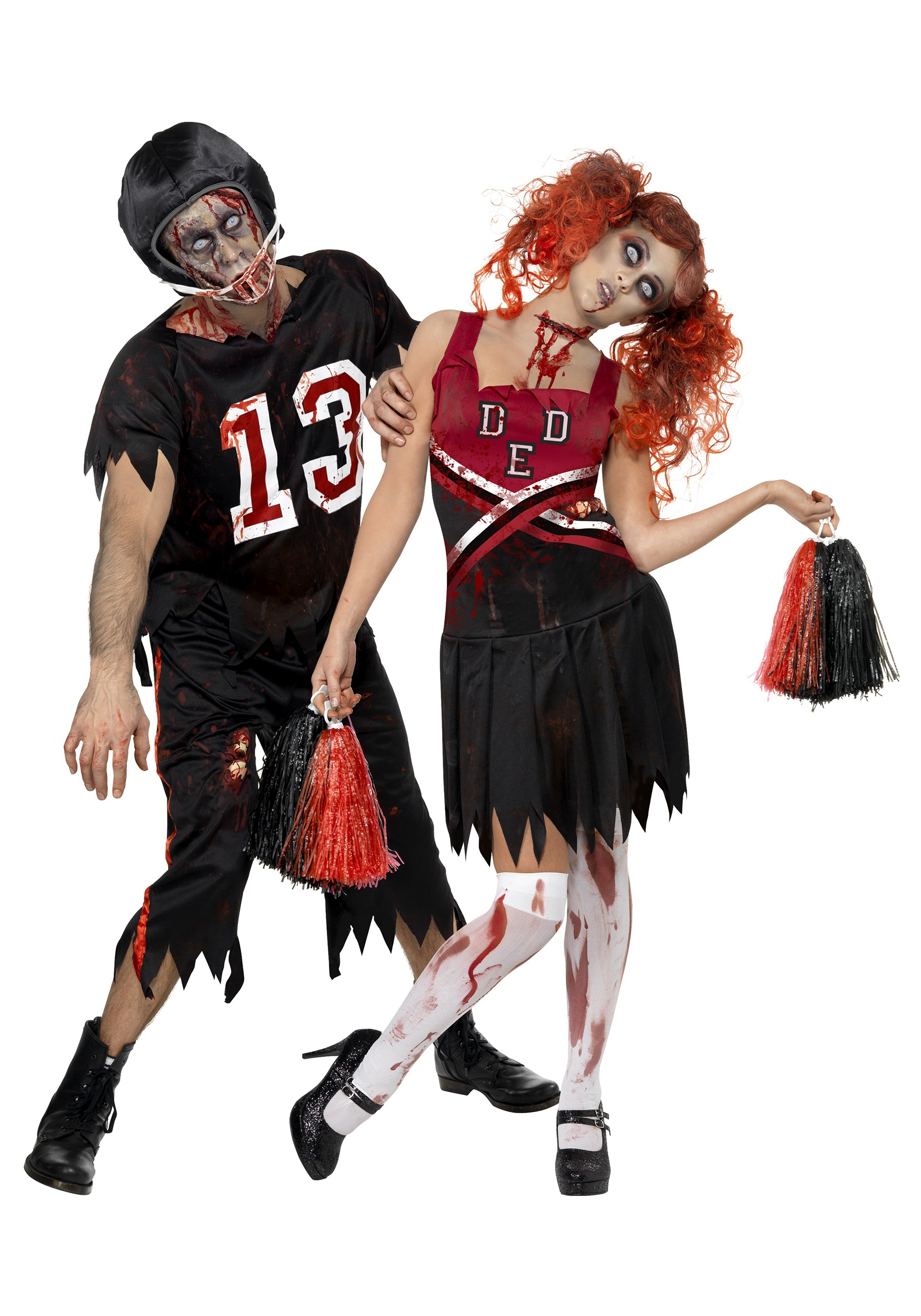 zombie cheerleader costume couple image - Halloween Costumes Of Zombies
