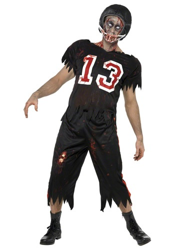 Click Here to buy Zombie Football Player Costume from HalloweenCostumes, USA Funds & Shipping