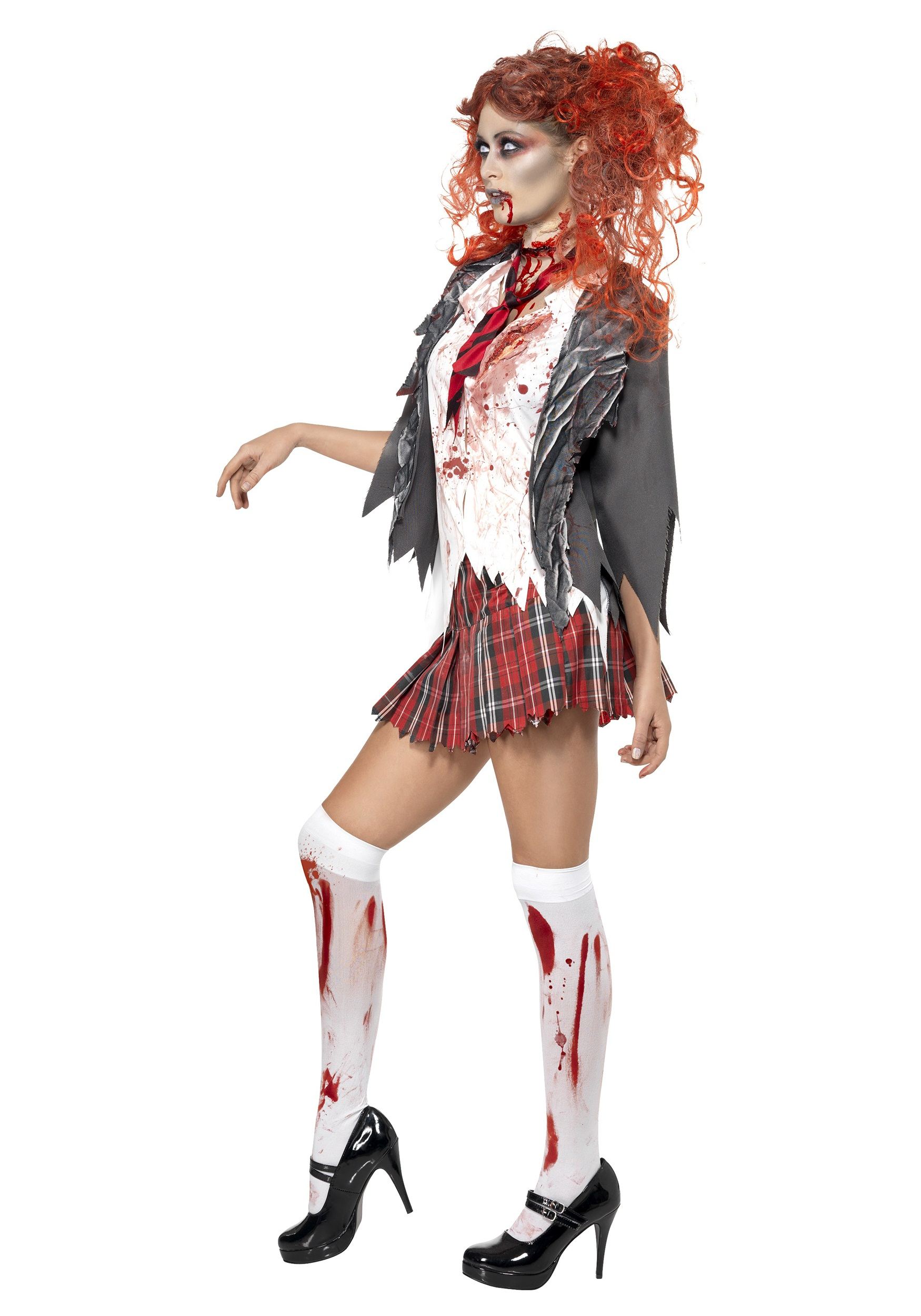 Halloween Zombie Costumes For Girls.School Girl Zombie Costume