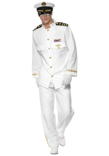 Click Here to buy Mens Deluxe Captain Costume from HalloweenCostumes, USA Funds & Shipping