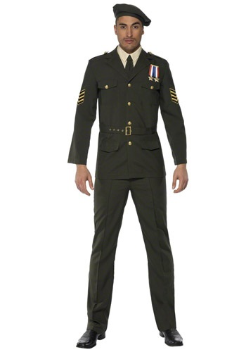 Click Here to buy Mens Wartime Officer Costume from HalloweenCostumes, USA Funds & Shipping