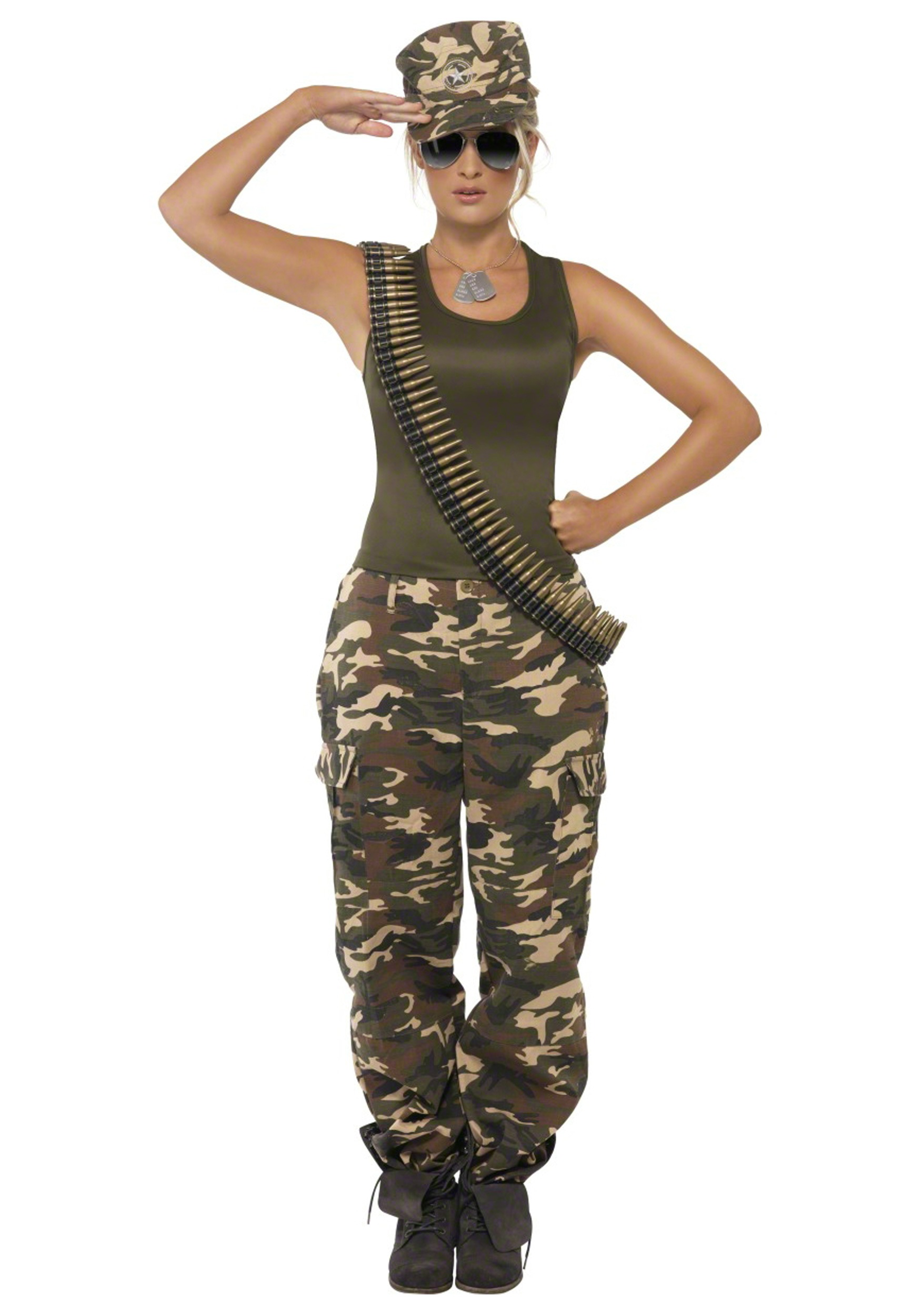 Female Khaki Camo Costume  sc 1 st  Halloween Costumes & Military Costumes - Adult Kids Army and Navy Halloween Costume