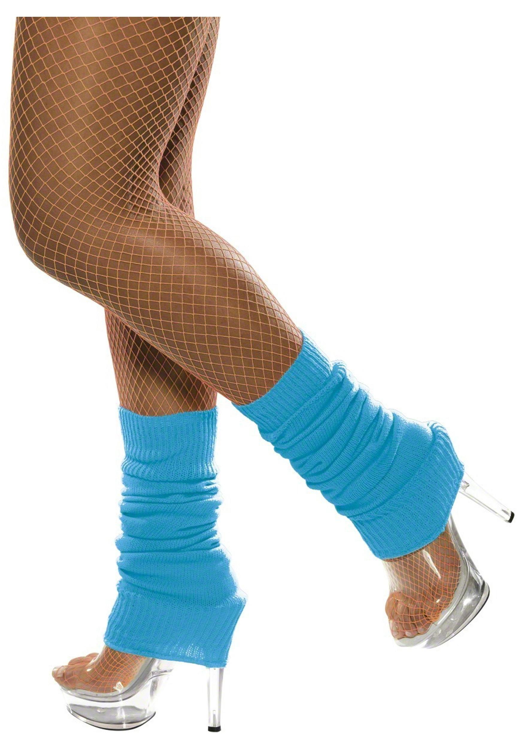 Neon Blue Leg Warmers - 80s Costume Ideas, Halloween Costumes