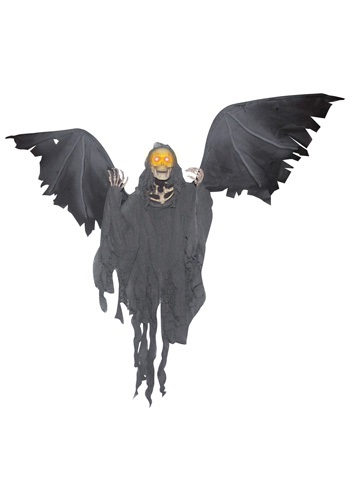 Click Here to buy Animated Flying Reaper Decoration from HalloweenCostumes, CDN Funds