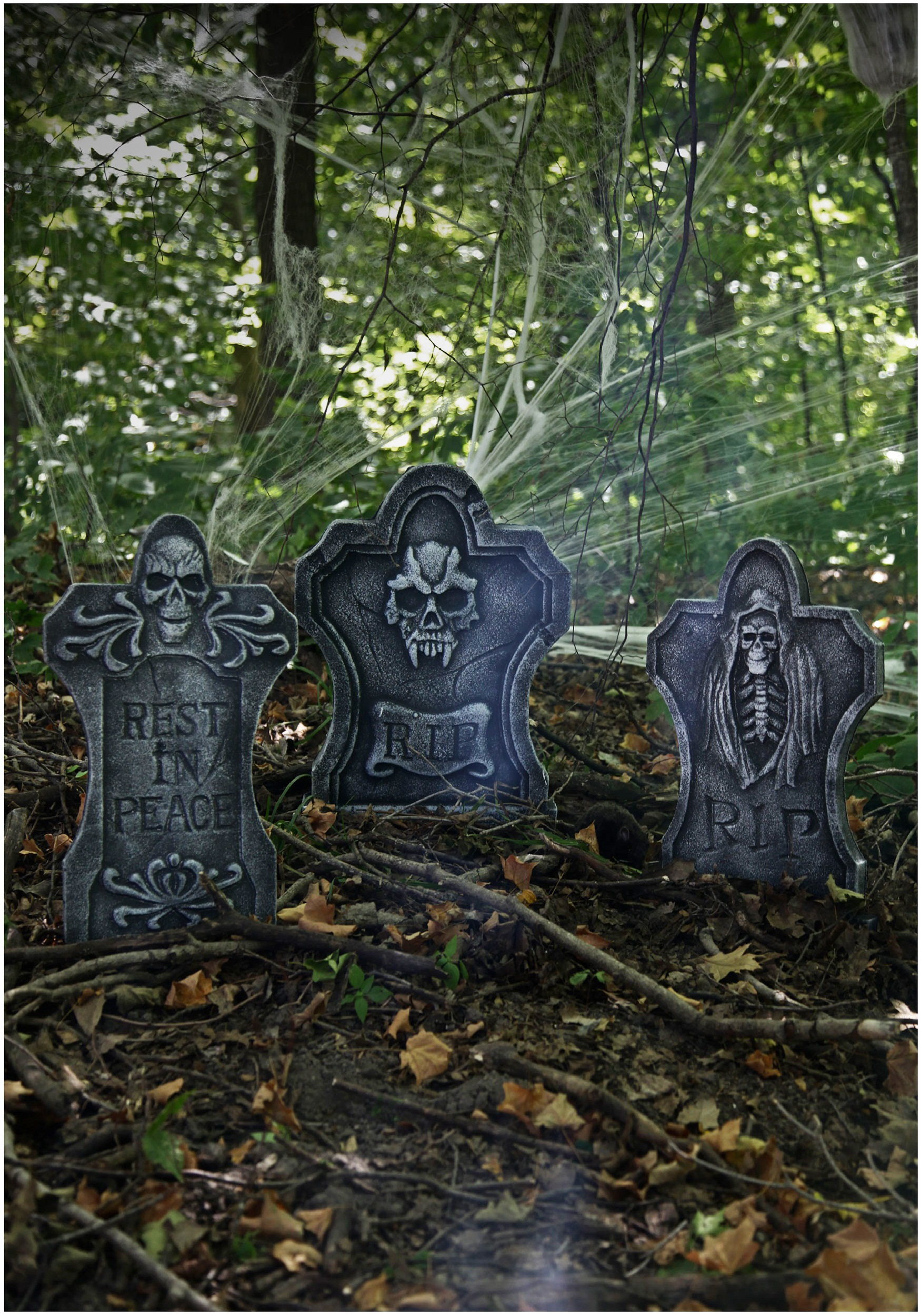 three piece tombstone kit - Cemetery Halloween Decorations