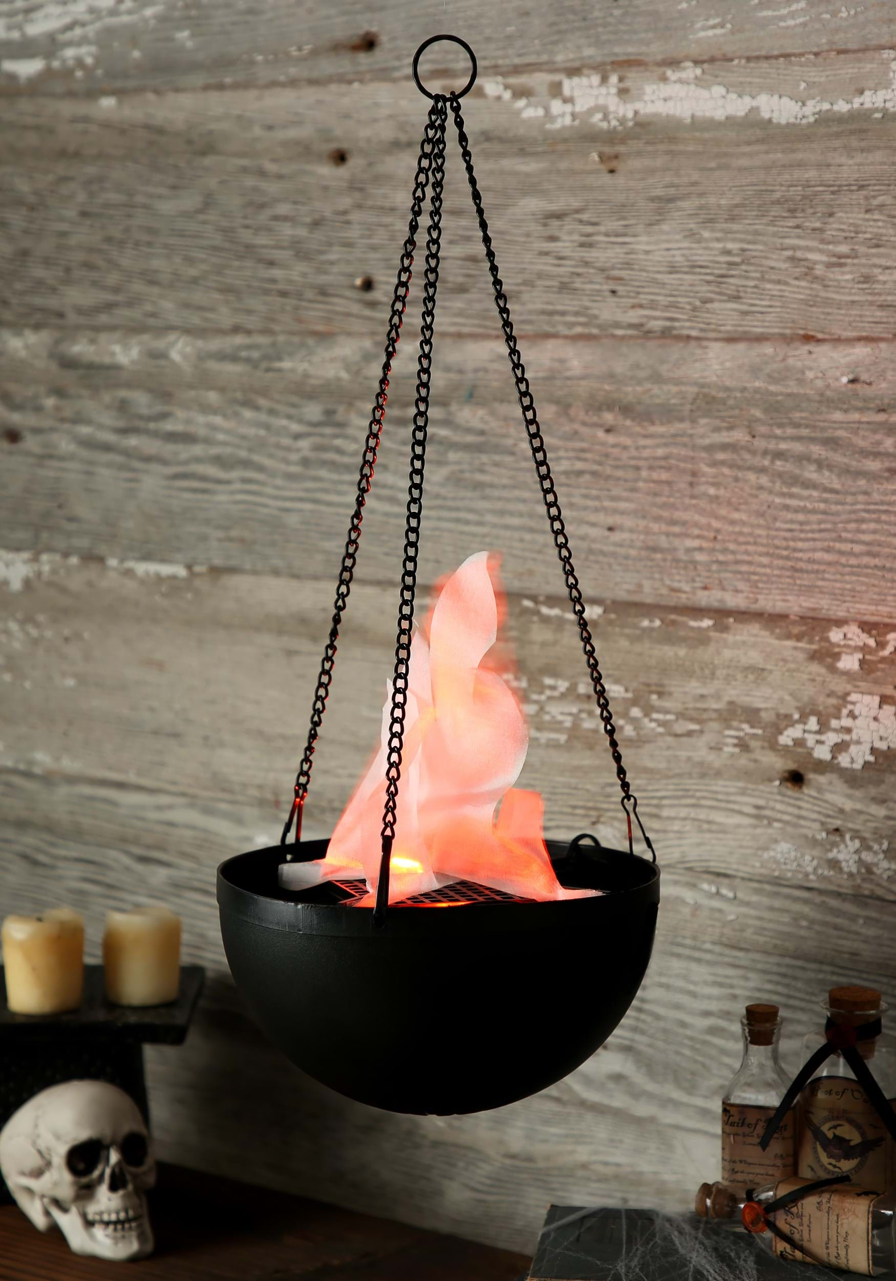 Hanging Flame Light - Witch Cauldron Decoration