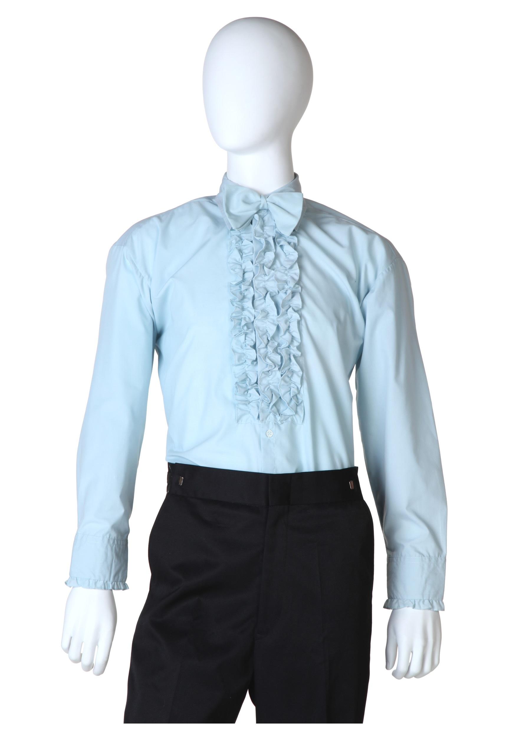 Ruffled Tuxedo Shirt uk Blue Ruffled Tuxedo Shirt