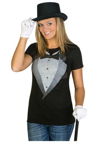 Womens Tuxedo Costume T-Shirt - Womens Tuxedo T Shirts