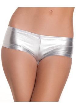 Silver Lycra Boy Shorts