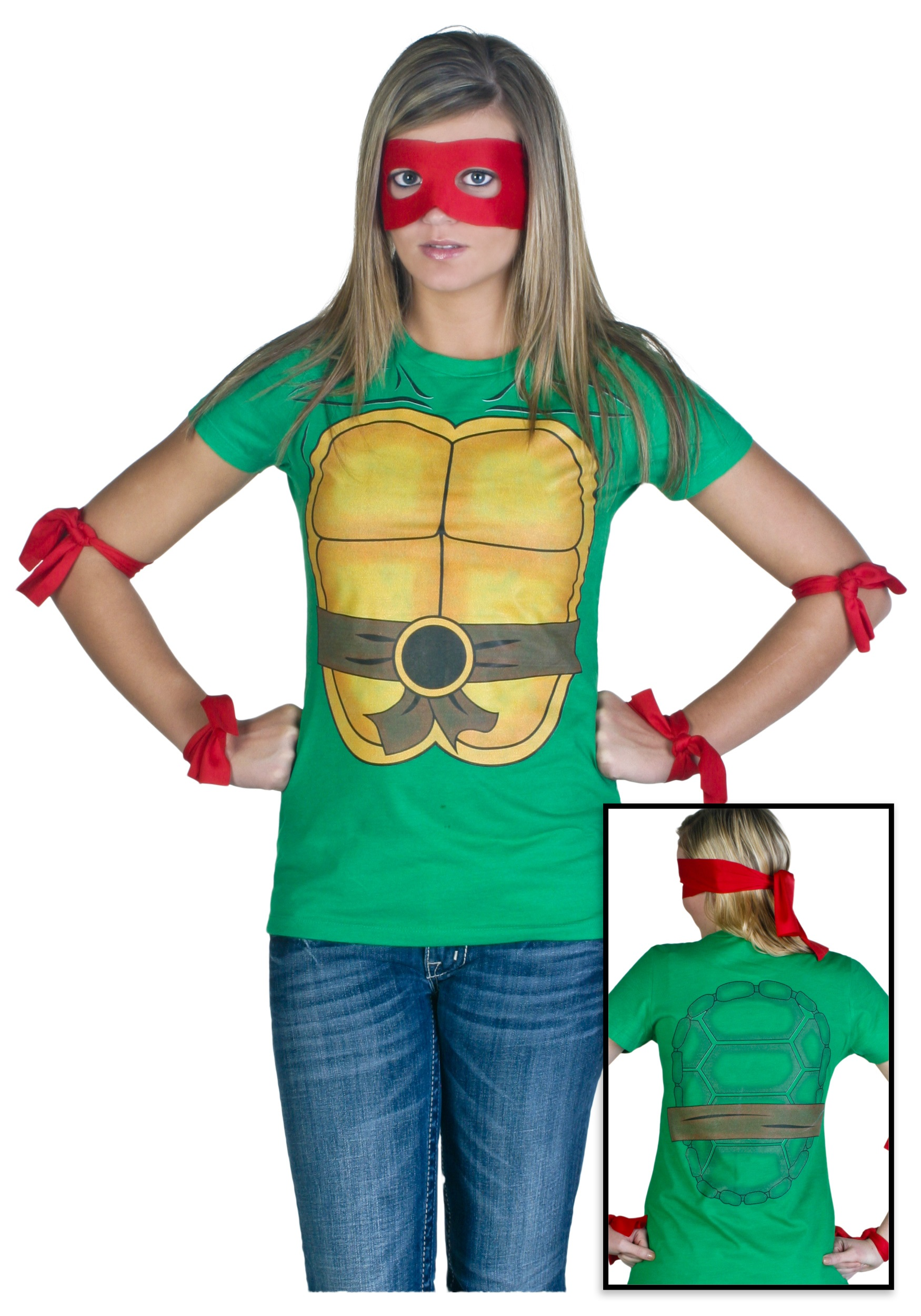 Ninja Turtle Shirt And Mask Womens Ninja Turtle T-shirt