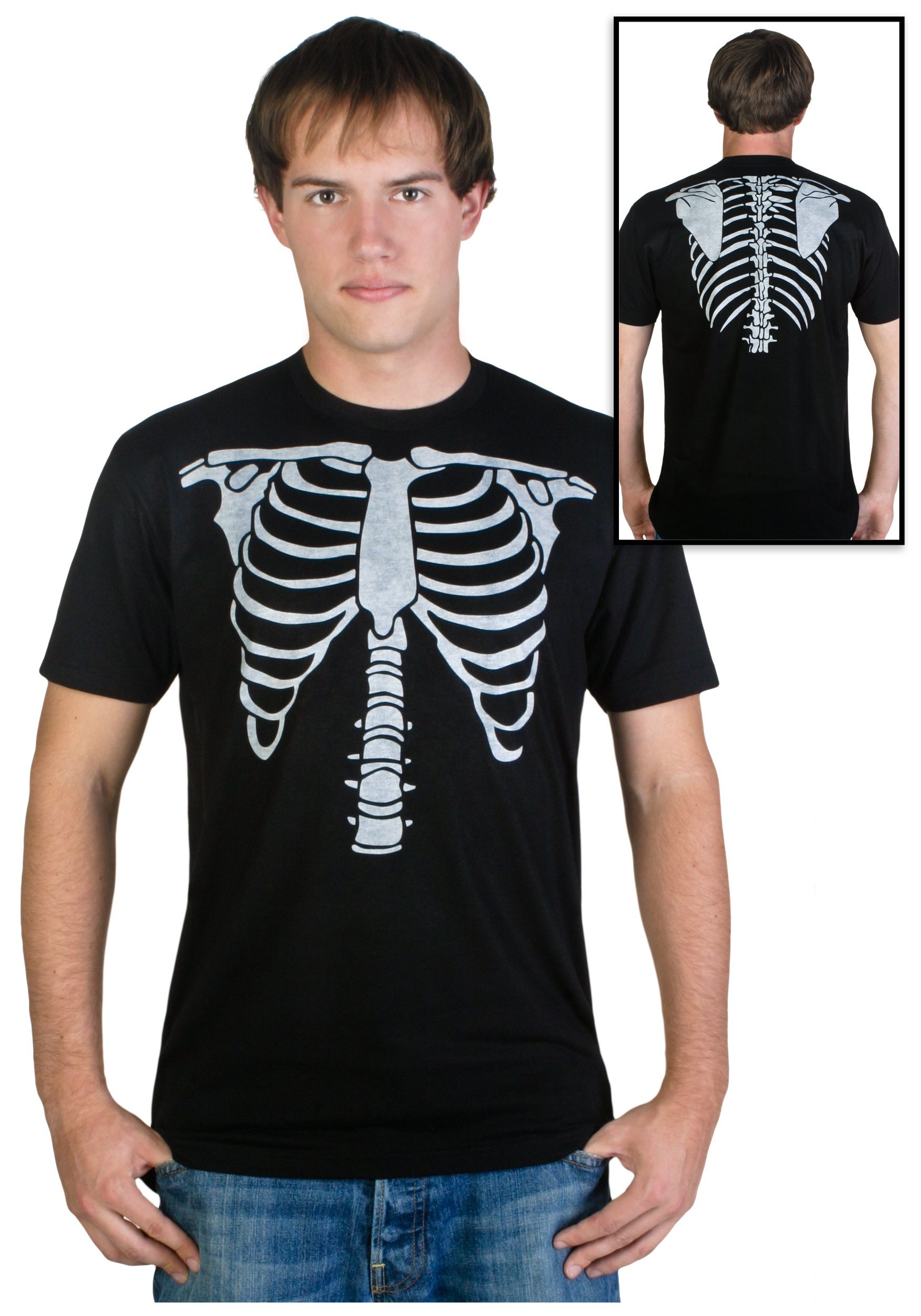Mens skeleton costume t shirt for Costume t shirts online
