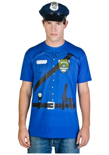 Mens Cop Costume T-Shirt