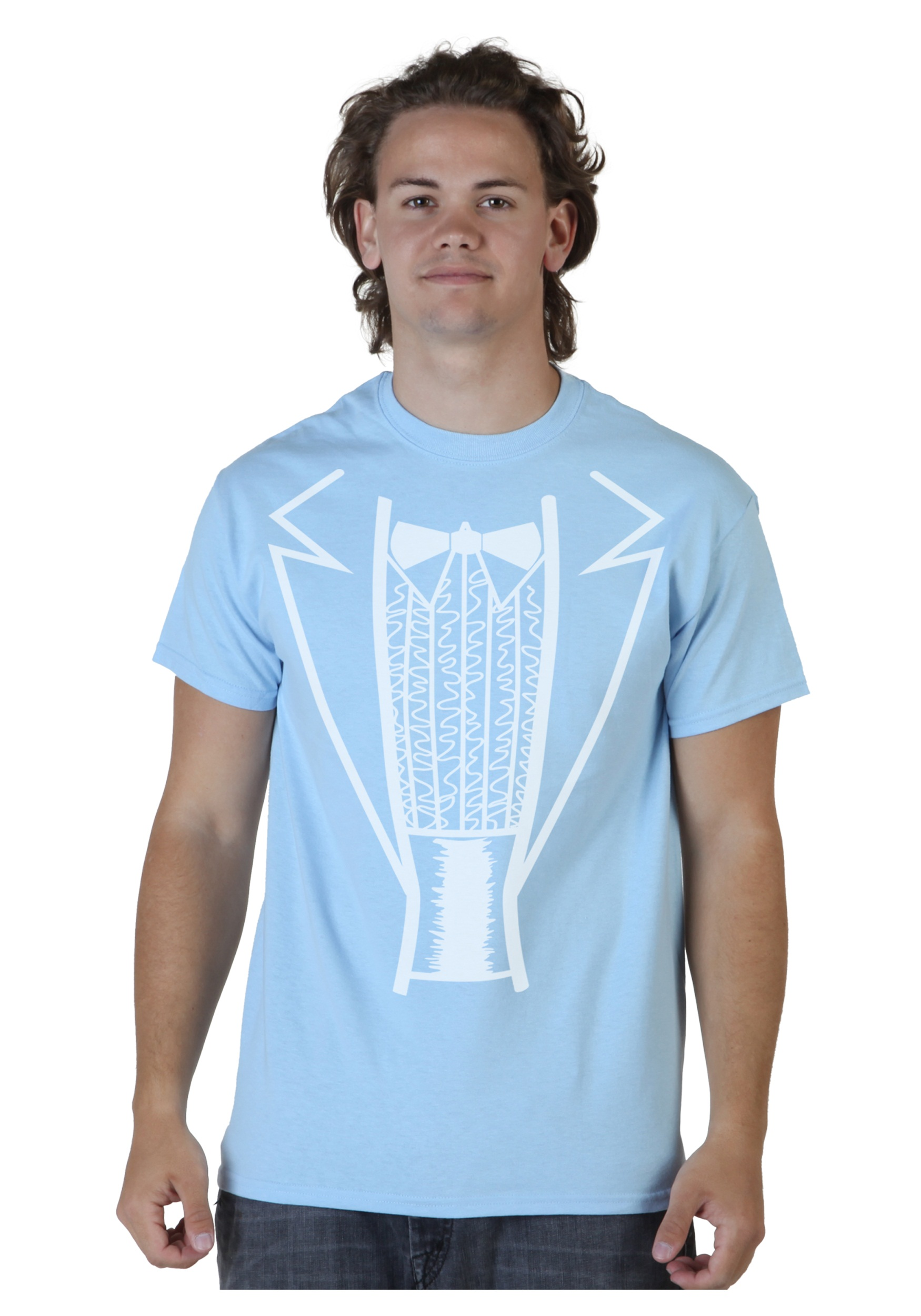 Blue Tuxedo Costume T-Shirt. Product Description. Get a funny look inspired ...