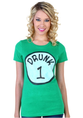 Womens St. Patricks Day Drunk 1 T-Shirt