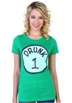 Womens St. Patricks Day Drunk 1 T-Shirt