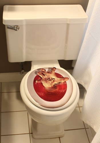 Hand Toilet Topper By: Beistle for the 2015 Costume season.