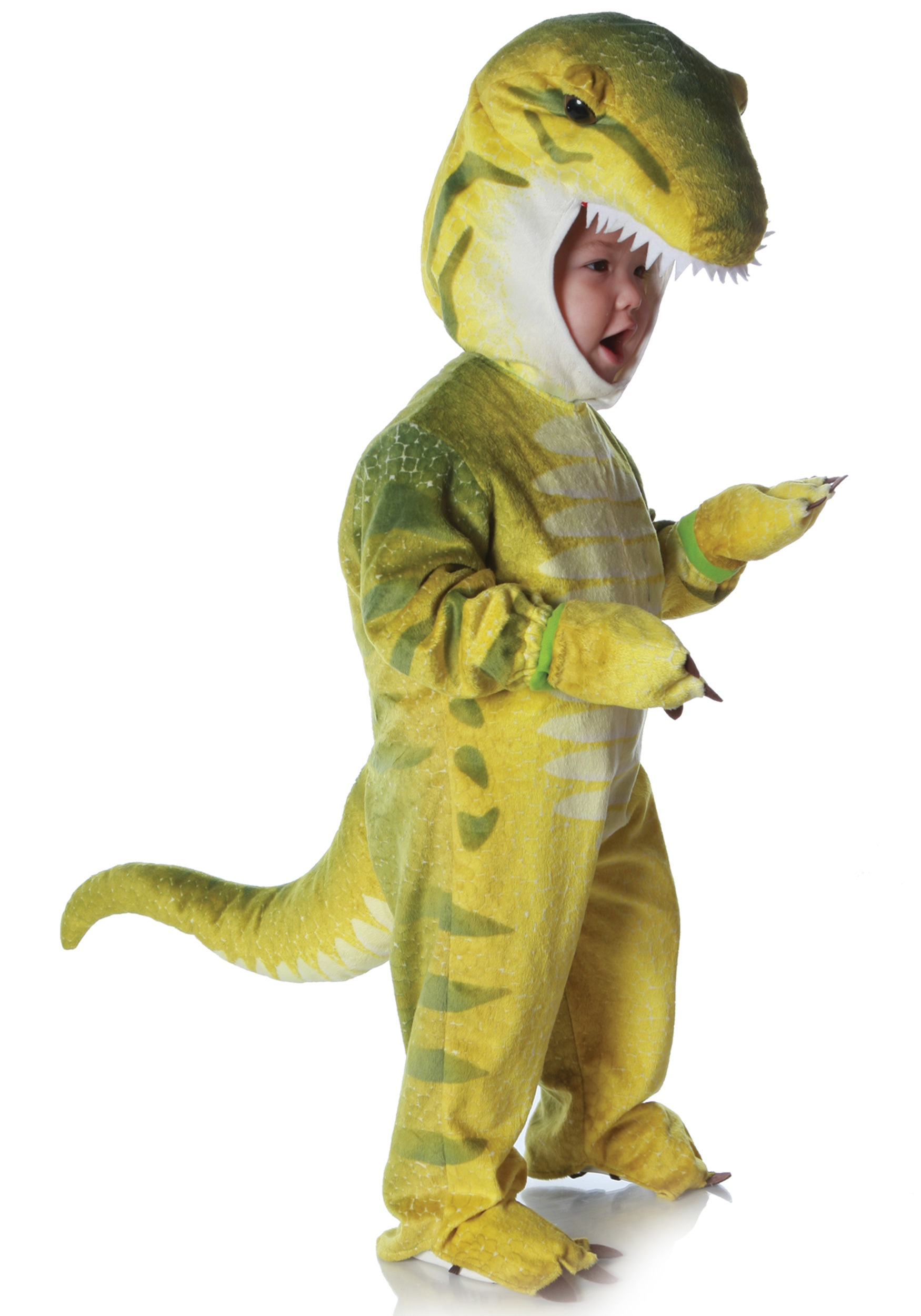 child green t rex costume